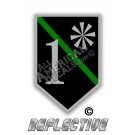 Thin Green Line 1* Ass to Risk Shield Reflective Decal