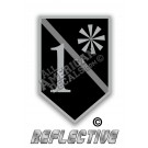 Thin Grey Line Correction Officer 1* Ass to Risk Shield Reflective Decal