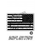 Distressed Thin Grey Line Tactical Flag Reverse Face
