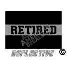 Thin Grey Line Retired Reflective Decal