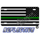 Thin Green Line Tactical Flag Reverse Facing