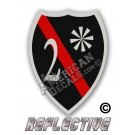 Thin Red Line 2* Ass to Risk Badge Reflective Decal
