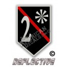 Thin Red Line 2* Ass to Risk Shield Reflective Decal
