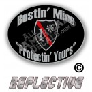 Thin Red Line One Ass To Risk Badge Bustin' Mine Protecting Yours No Line Reflective Decal