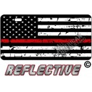 Thin Red Line Distressed Tactical Flag Forward Facing License Plate