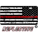 Thin Red Line Distressed Tactical Flag Reverse Facing License Plate