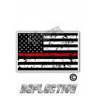 Distressed Thin Red Line Tactical Flag Forward Face