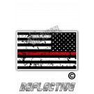 Distressed Thin Red Line Tactical Flag Reverse Face