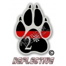 Thin Red Line 2* Ass to Risk K-9 Paw Straight Line Reflective Decal