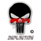 Thin Red Line Punisher Reflective Decal
