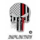 Thin Red Line Tactical Punisher Option 2 Reflective Decal