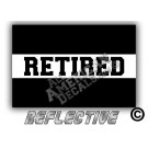 EMS/EMT Thin White Line Retired Reflective Decal