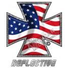 American Flag Iron Cross Forward Facing