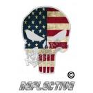 US Flag Punisher Reflective Decal