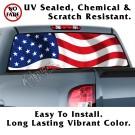 US Flag Wavy Back Window