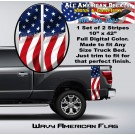 Wavy American Flag Truck Bed Band Stripe Decal Kit